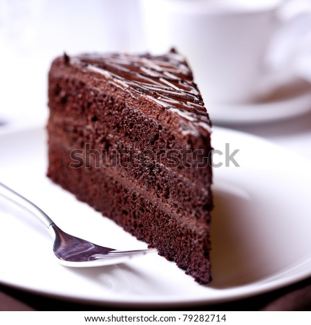 Dark chocolate cake - stock photo