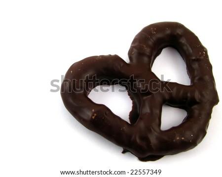 Dark Chocolate Covered Pretzel - stock photo