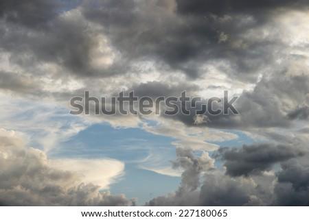 Dark Clouds wallpaper - stock photo