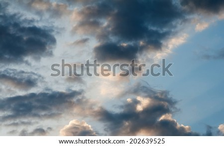 Dark cloudy sky - stock photo