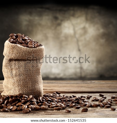 dark coffee  - stock photo
