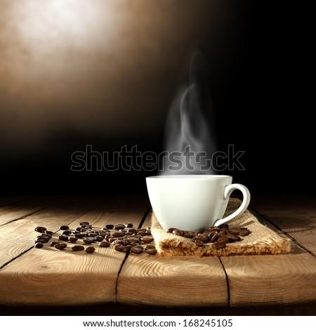 dark coffee  - stock photo