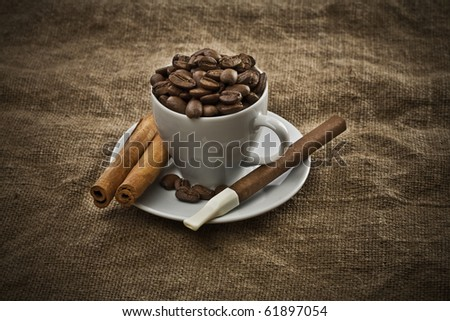 dark coffee composition