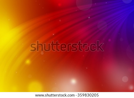 Dark color red,blur,gold glitter sparkle defocused rays down lights bokeh abstract holiday background. - stock photo