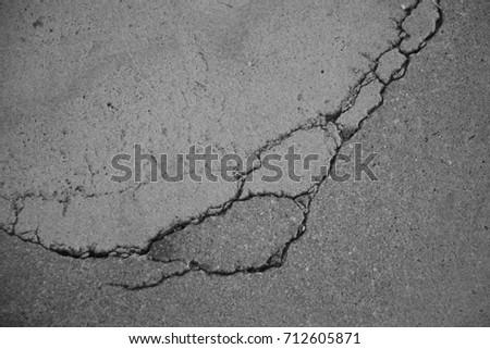 Dark Cracked Concrete Texture Wall Floor Surface Background. Crack Asphalt Road After Storm Stock Photo 362852246   Shutterstock
