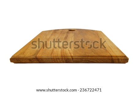 Dark crown cutting board isolated on white background