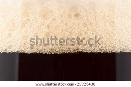 Dark deer froth, extreme close-up, XXL - stock photo