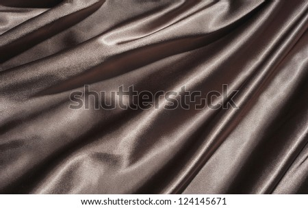 Dark fabric with folds - stock photo