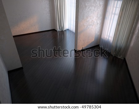 dark floor - stock photo