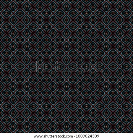 Dark Geometric pattern in repeat. Fabric print. Seamless background, mosaic ornament, ethnic style. Design for prints on fabrics, textile, covers, paper, wallpaper, interior, patchwork, wrapping.