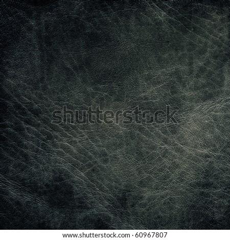 Dark gray leather texture. - stock photo