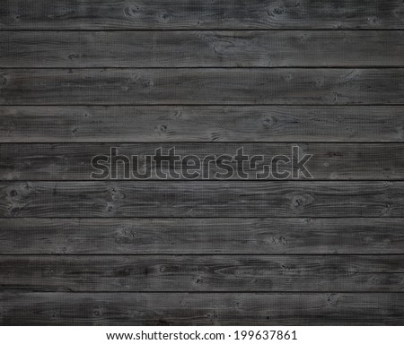 Dark Gray or Off Black Rustic Painted Wood Boards.  Color photo. A Halloween design element.  Horizontal - stock photo