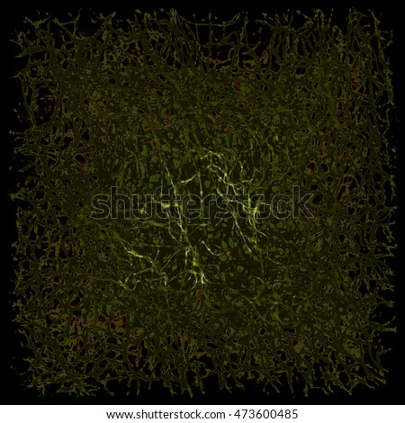 Dark Green abstract mess-up background.Digitally generated image.