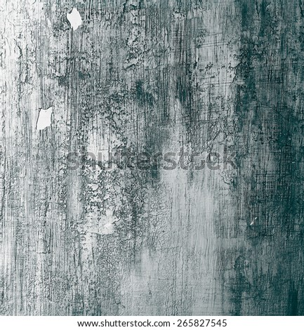 Dark Green and Grey Cracked Cement Wall Background closeup - stock photo
