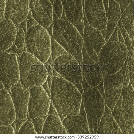 dark green artificial snake skin texture  closeup - stock photo