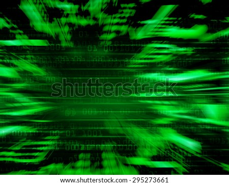 dark green Binary matrix with motion effect. technology graphic computer cyber. infographics. one. zero. glow.  - stock photo