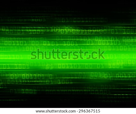 dark green illustration of technology internet network computer background with binary number, style background. infographics. Information. ray. wave. zero. one