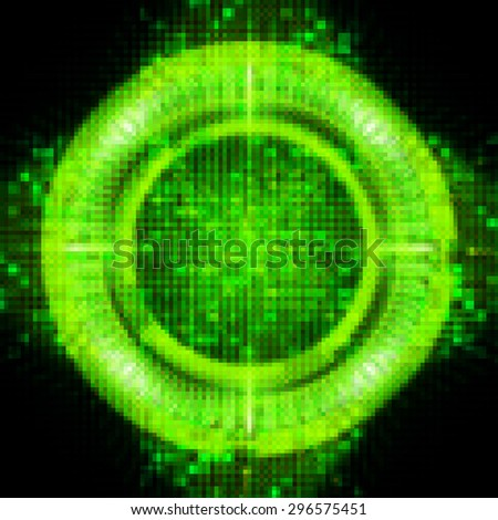 dark green illustration of technology internet network computer background with binary number, style background. infographics. Information. ray. pixel. zero. one - stock photo