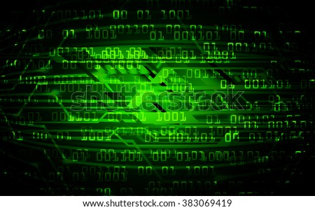 dark green illustration of technology internet network computer background with binary number, style. infographics. Information. motion blur. pixel. Binary digit. number.www. online. one zero