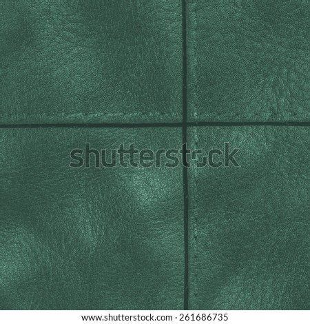 dark green leather texture, seams