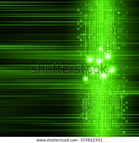 Dark green Light Abstract Technology background for computer graphic website internet business. circuit. illustration. infographics. motion move blur.neon. - stock photo
