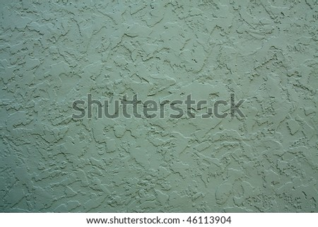 Dark green stucco texture - stock photo