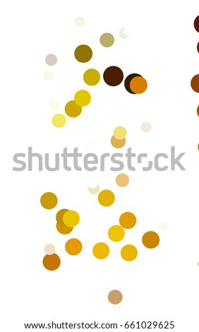 Dark Green, Yellow illustration which consist of circles. Dotted gradient design for your business. Creative geometric background in halftone style with colored spots.