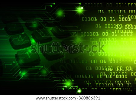 dark green yellow Light Abstract Technology background for computer graphic website internet business. circuit. illustration. digital. infographics. binary code. www.Spark.zero one. eye scan virus - stock photo