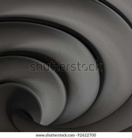 Dark grew abstract 3d twisted background