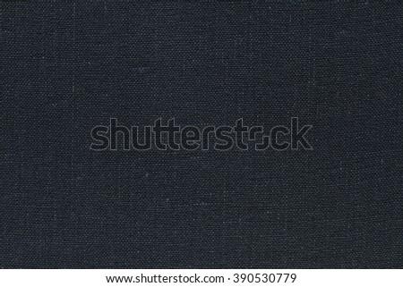 Dark grey canvas texture. Dark grey background. - stock photo