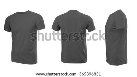 Vector Illustration Blank Black Men Tshirt Stock Vector 468201800 ...