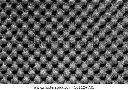 Dark grey packing or acoustic foam - stock photo