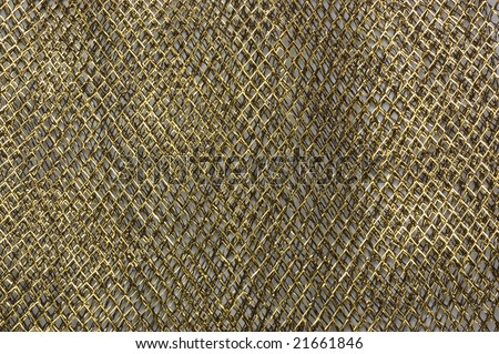 Dark Grid fabric golden texture, abstract background - stock photo