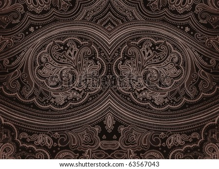 Dark grunge arabian style decorative ornament. More of this motif & more Rome in my port - stock photo