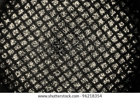 Dark grunge grid with vignette - stock photo