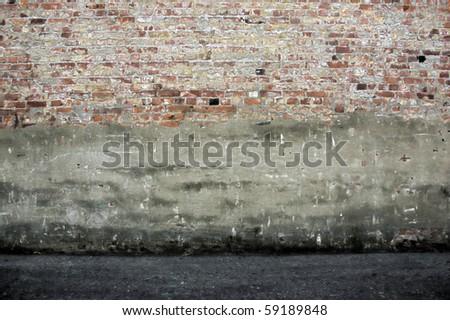 Dark grunge room background - stock photo