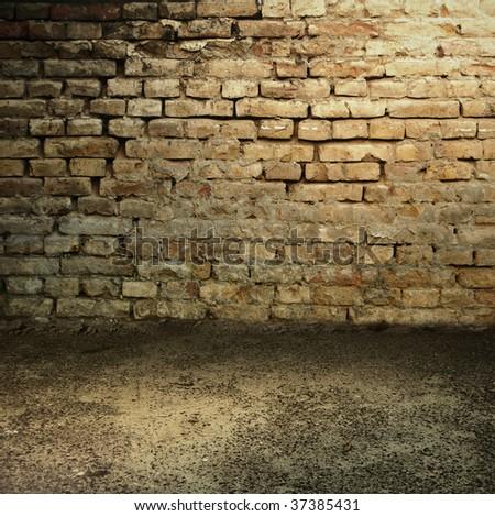 Dark Grunge Room. Digital background for studio photographers. - stock photo