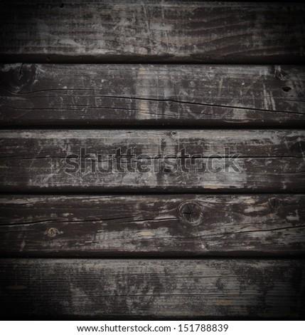 Dark grunge wood background - stock photo