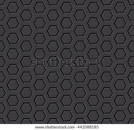 dark hexagon seamless background - stock photo