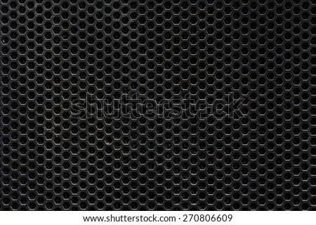 Dark hexagon steel mesh background - stock photo