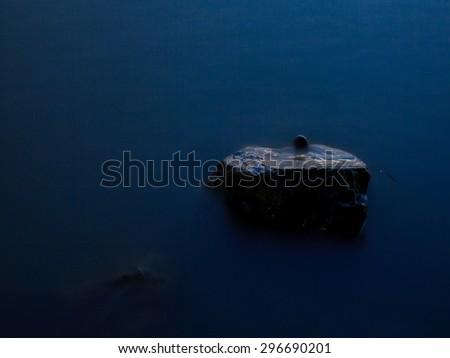 Dark in Mist sea Thailand - stock photo