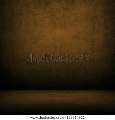 dark interior background - stock photo