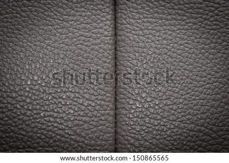 Dark Leather. Seamless Tileable Texture. - stock photo