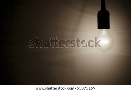 dark light bulb - stock photo