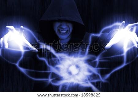Dark magic - stock photo