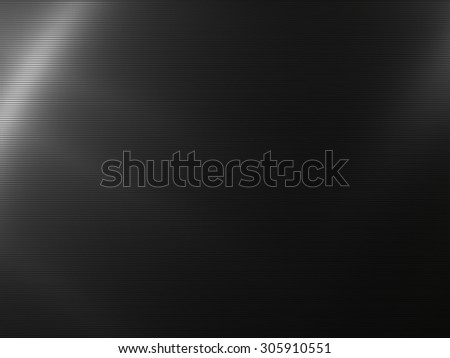 Dark metal background with striped texture - stock photo