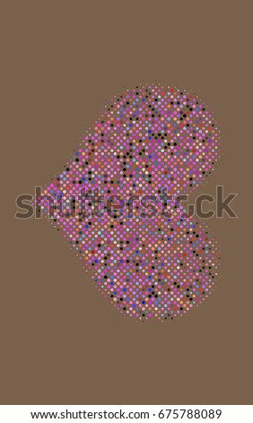 Dark Multicolor, Rainbow banner with circles, spheres. Abstract spots. Background of Art bubbles in halftone style with colored gradient.