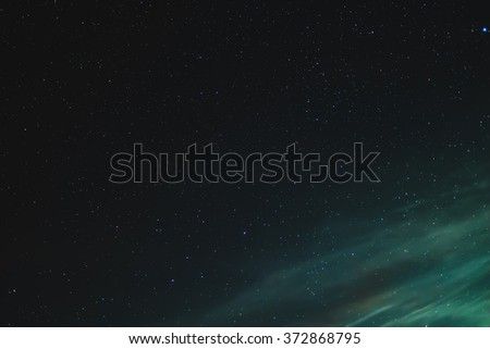 Dark night sky with many stars. Space - stock photo