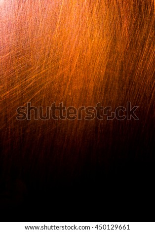 Dark old scary rusty rough golden and copper metal surface texture/background for Halloween or haunted house games background/texture - stock photo