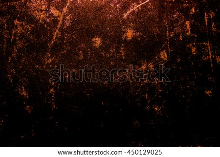 Dark old scary rusty rough metal surface texture/background for Halloween or haunted house games background/texture of wall or things - stock photo